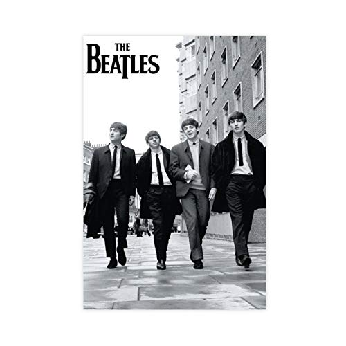 Póster de la banda británica de rock The Beatles 2 lienzo para decoración de pared, impresión de cuadros para sala de estar o dormitorio, 50 x 75 cm, estilo Unframe-1