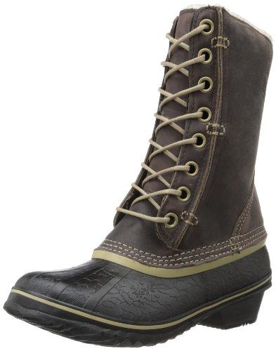 Hot Sale Sorel Women's Winter Fancy Lace Boot,Grizzly Bear/Black,9.5 M US