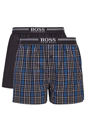 BOSS Herren 2P Boxer Shorts EW Pyjama-Shorts aus Reiner Baumwolle im Zweier-Pack