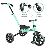 Yvolution Y Velo Flippa 4-in-1 Toddler Trike to Balance Bike | Ages 2-5 Years (Green)
