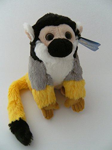 Stofftier Totenkopfäffchen, 19 cm, Kuscheltier Plüschtier, Affe Affen Totenkopfaffe