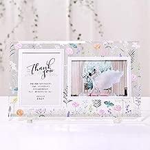 結婚式 両親プレゼント ガラスフォトフレーム子育て感謝状「ボタニカル」| お好きなお写真をセットして贈れる フォトフレーム 両親ギフト 自分ギフト お揃いギフト 記念品 お祝い ギフト プレゼント
