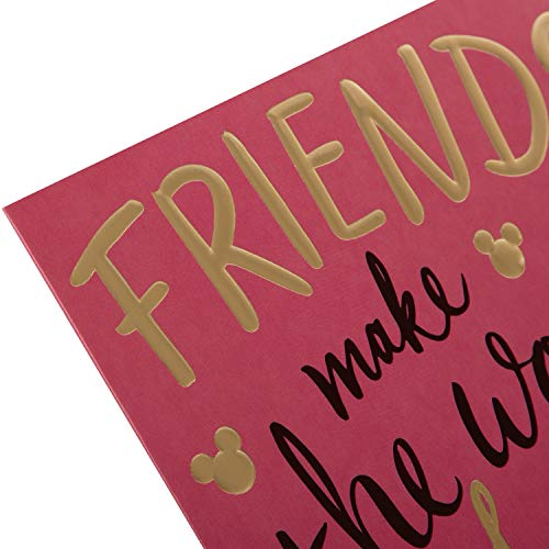 Birthday Card for Friend from Hallmark - Contemporary Embossed Text Design