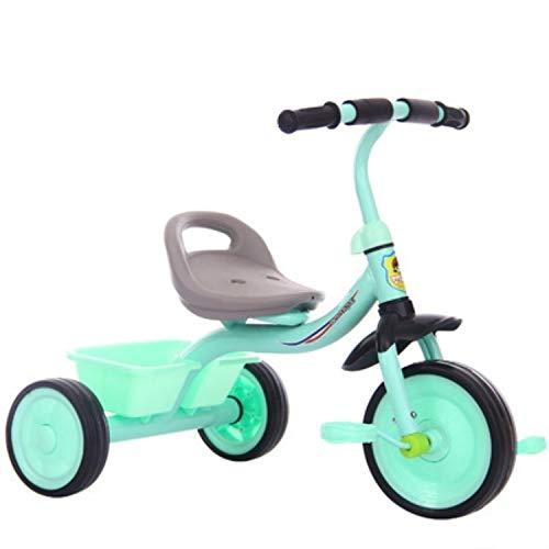 ZTH Tres niños Equilibrio del Rotor Vespa de la Bici portátil Bicicleta de Pedales de Bicicletas Sin Pie de bebé Walker Coche (Negro) (Color : Soft Blue)