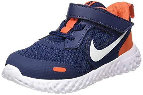 Nike Revolution 5, Zapatillas Deportivas Unisex niños, Midnight Navy White Orange, 25 EU