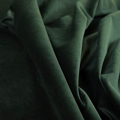 Yorkshire Fabric Shop Nueva Funda Suave de Peluche Plain Equipamiento Moderno Cortina de tapicería Telas de Terciopelo Brillante en Color Verde Oscuro (10m)