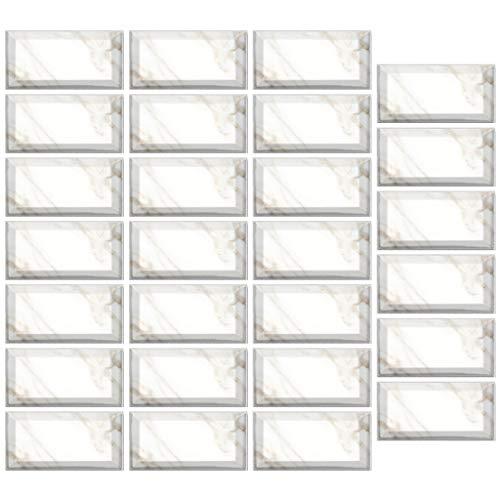 zhiwenCZW 27 unids 20x10 cm impermeable mármol imitación ladrillo baldosas pegatinas DIY auto-adhesivo cocina piso pared etiqueta baño hogar decoración
