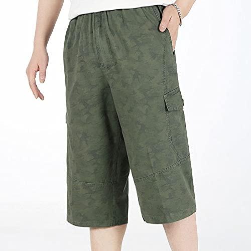 Pantalones Cortos de Hombre Men Long Cargo Shorts Male Summer Bermuda Elastic Waist Army Camo Baggy Short Plus Size Big 4XL 6XL Lo