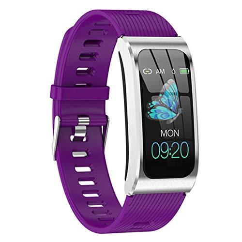 Wsaman SmartWatch Deportivo IP68 Bluetooth, Reloj Deportivo a Prueba de Agua, con Pulsómetro Sueño Podómetro para niñas niños,Pulsera Multifuncional,A