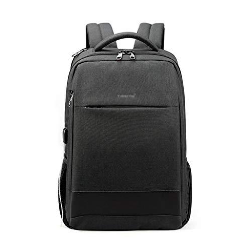 FH ノートパソコンのバックパック、14インチ/ 15インチ/ 15.6インチの盗難防止コンピュータのバックパックに適したUSBインタフェース付き多機能カジュアルビジネスバックパック (Color : Black gray, Size : 15.6 inches)