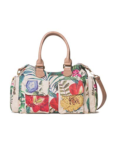 Desigual - Bag Clio London Women, Shoppers y bolsos de hombro Mujer, Blanco (Crudo), 15.5x25.5x32 cm (B x H T)