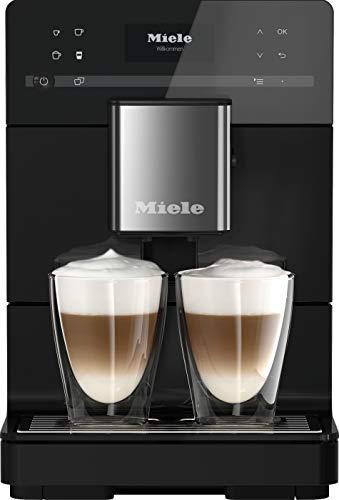 Miele CM 5410 Silence Stand Kaffeevollautomat / OneTouch for Two / Reinigungsprogramme / Genießerprofile / Kannenfunktion / cremiger Milchschaum / Obsidianschwarz