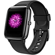 Smart Watch, Orit Fitness Tracker Heart Rate Sleep Monitor Bluetooth Activity Tracker Touch Screen 5ATM Waterproof Music control Pedometer Calorie Counter SMS Call Notification for Women Men Android iOS (black)