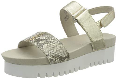 Gerry Weber Shoes Damen Ancona 01 Slingback Sandalen, Beige (Creme-Kombi 231), 42 EU