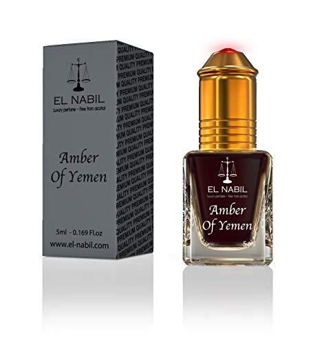 Amber of Yemen 5ml Parfum Duft - El Nabil Misk Musk Moschus Parfümöl für HERREN & DAMEN - Oil Attar Scent