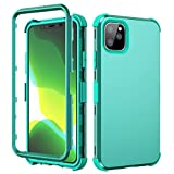 SKYLMW iPhone 11/XI Pro MAX Case, Hybrid Three Layer Shock-Absorption with Hard PC Soft Silicone Protective Cover for iPhone 11/XI MAX Pro 6.5 inch 2019,Green