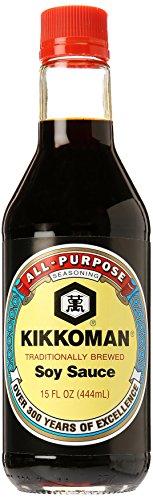 Kikkoman Naturally Brewed Soy Sauce, 15 oz