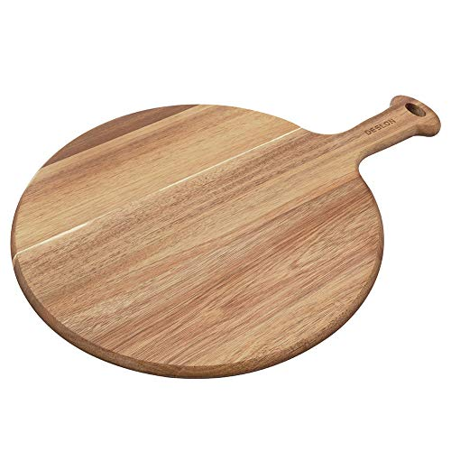 Deslon Wooden Pizza Peel - Premium,Great for Homemade Pizza, Cheese and Charcuterie Boards, Fruit and Cheese Serving Tray
