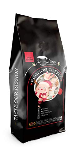 Java D'Oro Eggnog Coffee - Gourmet Roasted Whole Bean Coffee 2lb | Cinnamon, Nutmeg and Vanilla flavored coffee | Small Batch Craft Coffee | Hand Roasted Daily