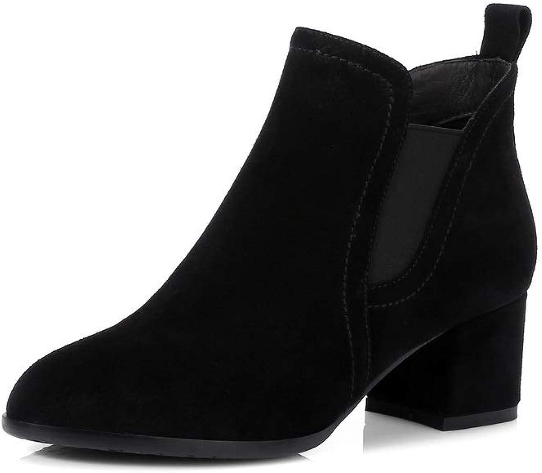 AdeeSu Womens Dress Warm Lining Solid Leather Boots SXE04964