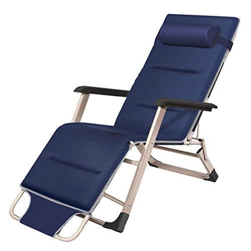 Opvouwbare Ligstoel Tuinstoelen Chaise Lounge, Heavy Duty Zero Gravity Recliner Chair Verstelbare Outdoor Patio Lawn Chair, Blauw