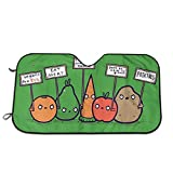 Olive Croft Veganos protestantes Verduras Divertidas protestan contra los Veganos Protector para Parabrisas, Protector de Parabrisas Protección UV, Antihielo y Nieve Funda 130 X 70 cm