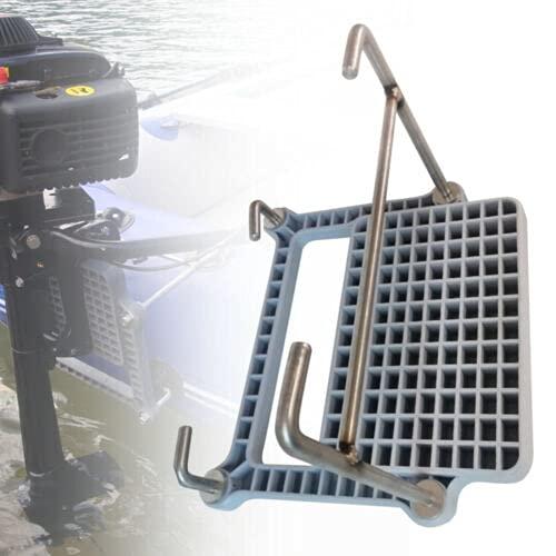 SHZICMY Soporte para motor de barco, soporte para embarcaciones hinchables de kayak, se utiliza desmontable, portátil y tabla impermeable de alta densidad 26 x 21 cm