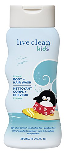 Live Clean Kids Tear Free Hypoallergenic Formula Body and Hair Wash