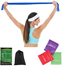 ECGOIOE Slimming Exercise Band Set of 3, TPE Wide Resistance Ranges 5-21LBs Bands for Any Exercise,Home Gym, Physical Therapy, Pilates, Muscle Relaxation Exercise, Yoga, Outdoor Strength Training