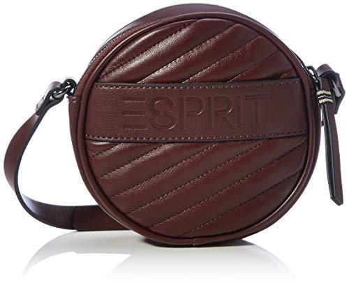 Esprit 100ea1o309, Sac à l'épaule Femme, Rouge Bordeaux, Taille Unique