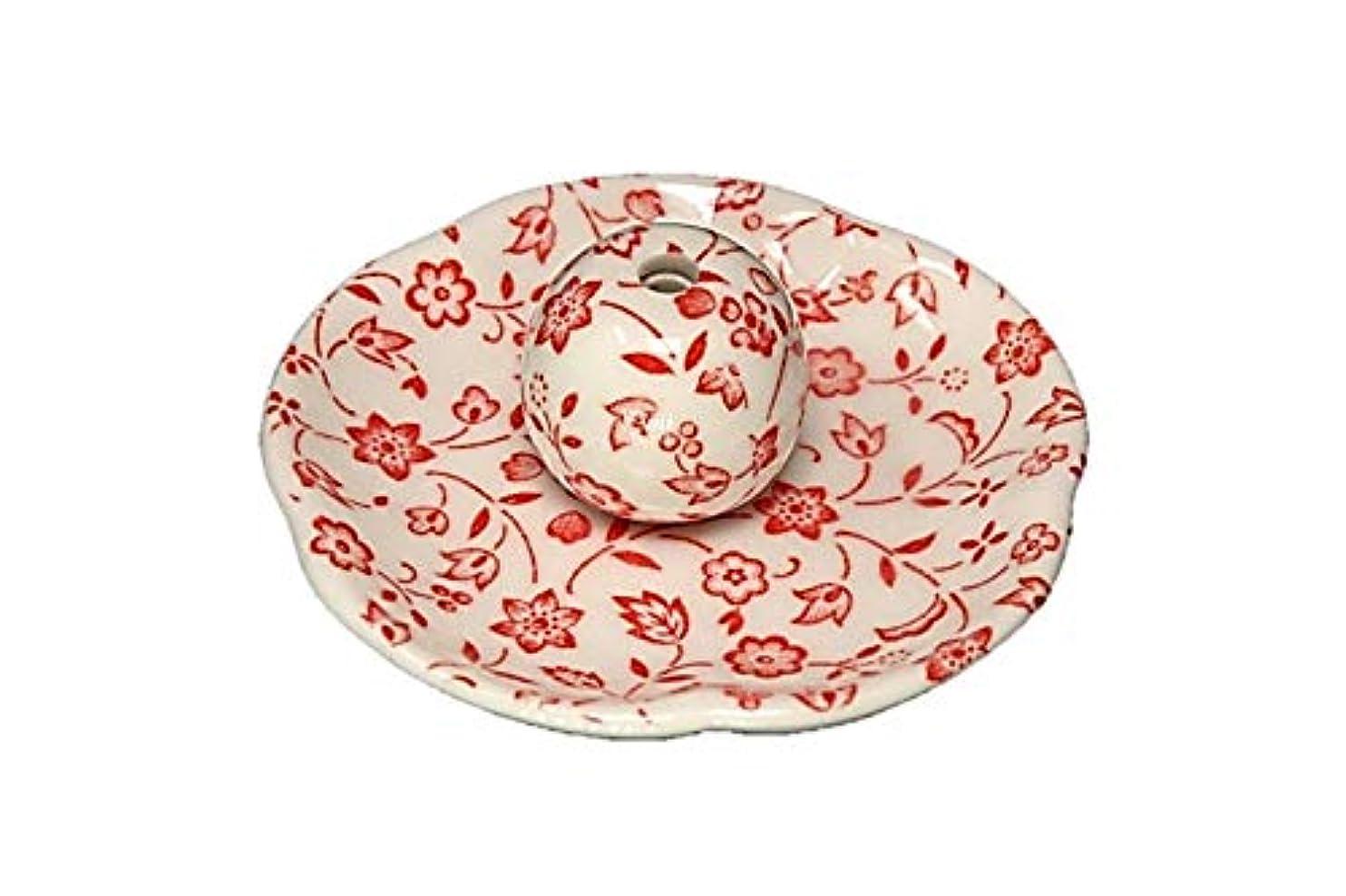 テザースリンク尊厳赤小花 花形香皿 お香立て お香たて 日本製 ACSWEBSHOPオリジナル