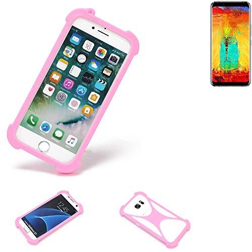 K-S-Trade® Handyhülle Für Leagoo S8 Pro Schutzhülle Bumper Silikon Schutz Hülle Cover Case Silikoncase Silikonbumper TPU Softcase Smartphone, Pink (1x)