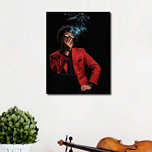 KWzEQ Wochenendplakat Rap Musik Sänger gedruckt Wandkunst Leinwand Bild Wohnzimmer Wohnkultur,Rahmenlose Malerei,40X53cm