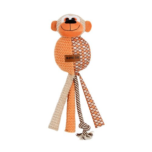 Europet Bernina 304-427521 Hundespielzeug aus Plüsch Funky Monkey, braun/orange, 14 x 44 cm