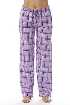 Just Love Women Plaid Pajama Pants Sleepwear 6324-PUR-10281-L