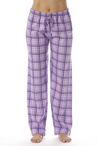Just Love Women Plaid Pajama Pants Sleepwear 6324-PUR-10281-M