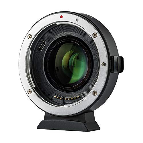 Viltrox EF-EOS M2 Adapter 0,71 x Fokusreduzierer Speed Booster Autofokus Objektivadapter kompatibel mit Canon EF Objektive auf Canon EOS-M (EF-M Mount) Kamera M5 M2 M3 M6 M10 M50 M100