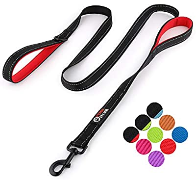 Primal Pet Gear Dog Leash 6ft Long - Traffic Padded Two Handle - Heavy Duty - Double Handles Lead for Control Safety Training - Leashes for Large Dogs or Medium Dogs