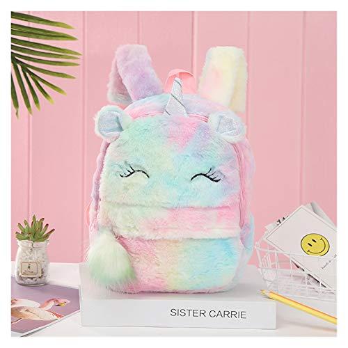 Youpin Linda mochila de dibujos animados para niña con diseño de unicornio, mochilas de piel de moda para niños, bolsa de regalo para niños, bolsa de libros de regalo (color multi.)