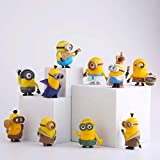 (10 Pcs) Mini Action Figures, Anime Figures, Minio Characters Action Figures Pack, Party Favor Decoration Toys, Birthday Gift Set