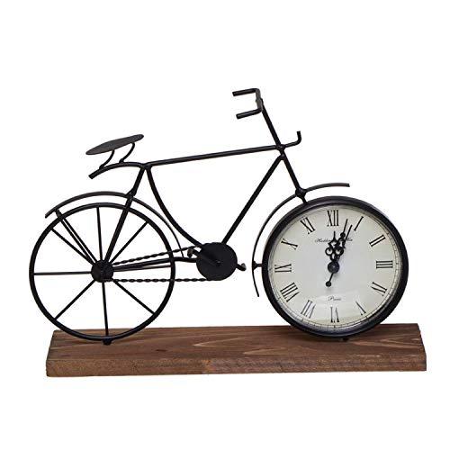 Vidal Regalos Reloj Sobremesa Bicicleta en Peana Madera 28 cm