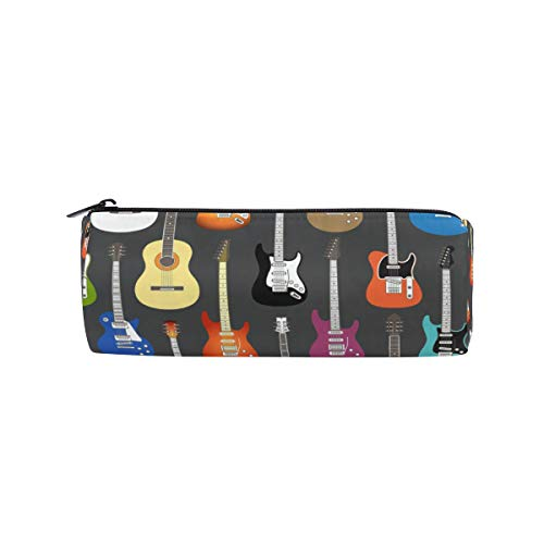 Linomo Federmäppchen Musical Instrumente Musik Gitarre Geige klein Mäppchen Federtasche Schüleretui Bleistift Beutel für mädchen teenager junge kinder