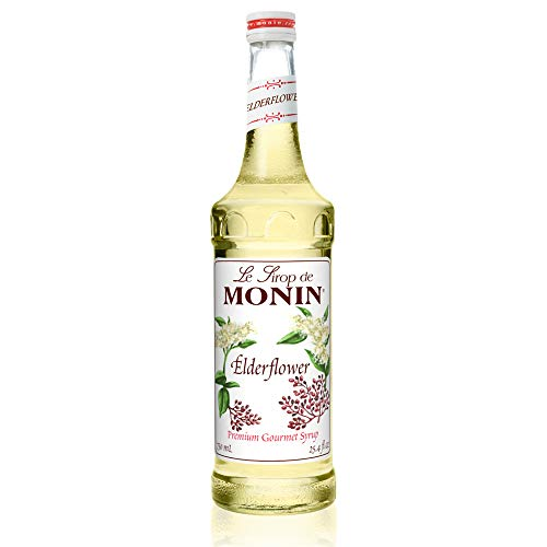Monin - Elderflower Syrup, Delicate Scent with Floral Sweetness, Great for Cocktails, Lemonades, and Sodas, Gluten-Free, Non-GMO (750 ml)