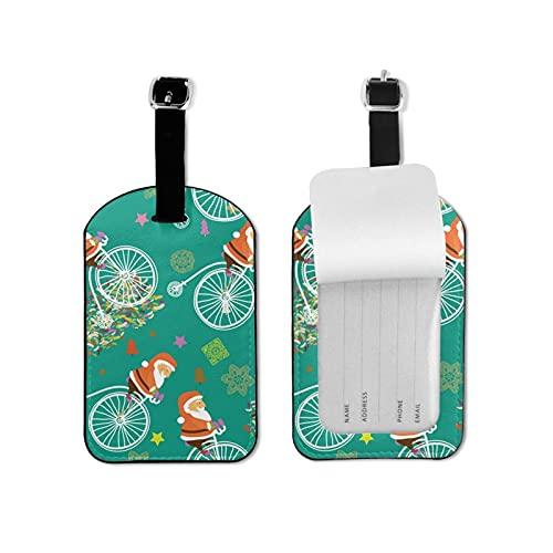 Donono Gepäckanhänger aus Leder mit vollständiger Privatsphäre, Namenskarte und Sicherheitsgurt, für Gepäck, Koffer, Reise, Urlaub