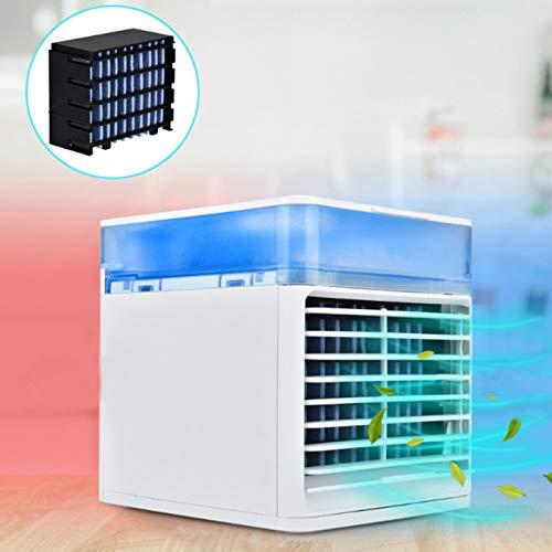 Aire Acondicionado portátil, Ventilador de Aire Acondicionado evaporativo Recargable con 3 velocidades 7 Colores, refrigerador de Aire Personal sin Cable, para hogar, Oficina y habitación