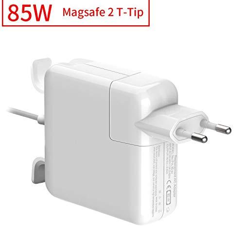 """Rocketek Cargador Mac Book Pro 85W, Compatible con Cargador MacBook, MagSafe 2 Forma de T Adaptador de Corriente Funciona con los Macbook 45W/60W/85W-13 15"""" 17""""-Cargador para MacBook Mediados"""