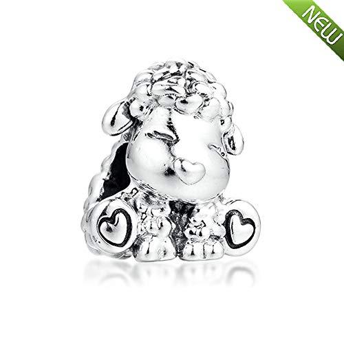 PANDOCCI 2020 Frühling Patti Die Schaf Perle 925 Silber DIY Passt für Original Pandora Armbänder Charme Modeschmuck