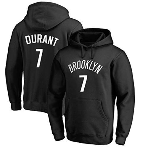 LMSNB Sudadera con capucha Brooklyn Nets #2 Para Hombres Baloncesto Kevin Durant Sudadera con capucha Street Retro Camisa de moda Chaqueta Casual Entrenamiento Sudadera - Negro