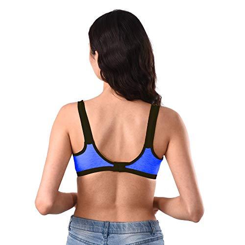 Vakai Presents Lady Nice Sports Look Full Coverage Bra - Blue