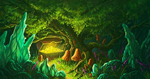 HNHOUDING Puzzle 1000 Stück Holz Kisten Gold Schatz Münzen Kinderspiel Art Decoration Geschenk Landschaft